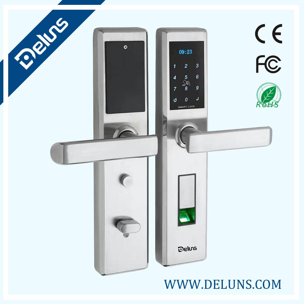 F13-SN deluns waterproof sus304,fingerprint lock screen - hotel lock