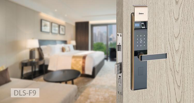 Deluns Safe Chain Lock Fingerprint Scanner F9 Hotel Lock